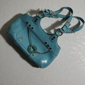 Blue shoulder purse